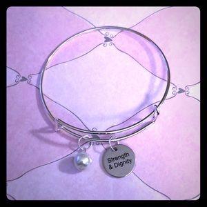💙Strength & Dignity Pearl Adjustable Bracelet💙